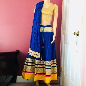 3pc Fancy Blue Lehenga/Navratri/Garbha